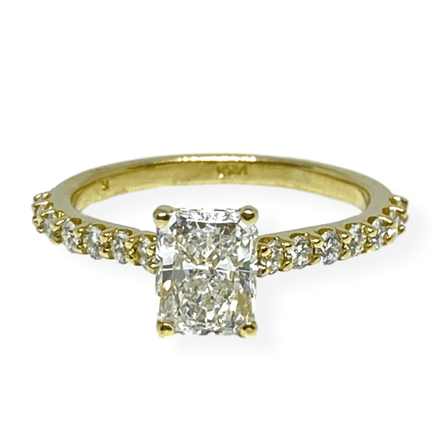 Mark Areias Jewelers Jewellery & Watches Radiant Diamond Solitaire Engagement Ring 14K Yellow Gold 1.20 Carat