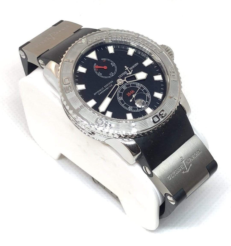 Mark Areias Jewelers Jewellery & Watches Ulysse Nardin Maxi Marine Diver Titanium, Rubber Power Reserve Watch 263-33-3/92