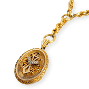 Mark Areias Jewelers Jewellery & Watches Victorian Chain and Locket Rose Cut Diamonds 18K Yellow Gold 59 grams