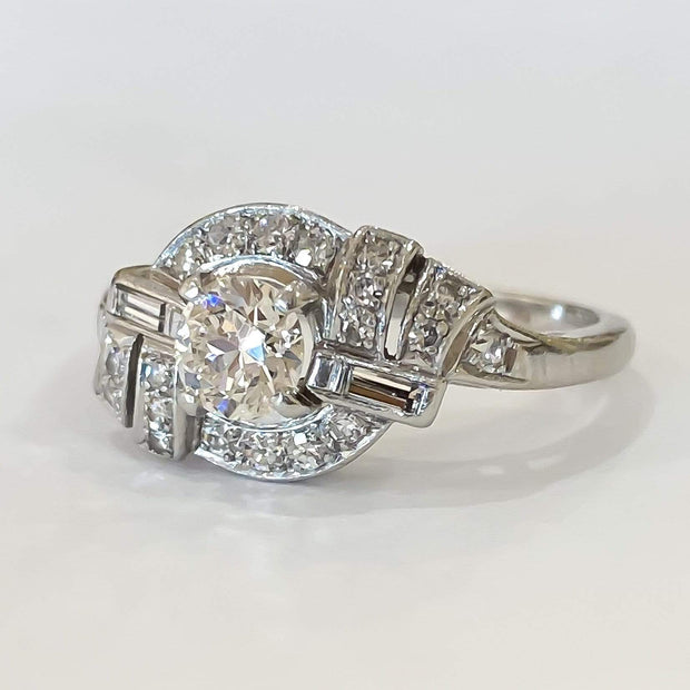 Mark Areias Jewelers Jewellery & Watches Vintage Art Deco 1920's Old European Cut Diamond Ring 1.06ctw Platinum