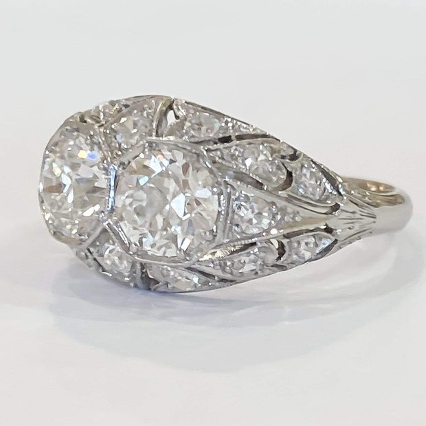 Mark Areias Jewelers Jewellery & Watches Vintage Old European Cut Diamond Ring 1.94 Carat Platinum