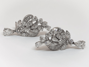 Mark Areias Jewelers Jewellery & Watches Vintage Platinum Pear and Baguette Diamond Drop Earrings 7.50 Carat
