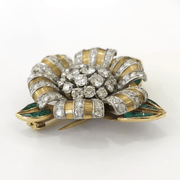 Mark Areias Jewelers Jewellery & Watches Vintage Van Cleef & Arpels Diamond and Emerald Brooch 18 Karat