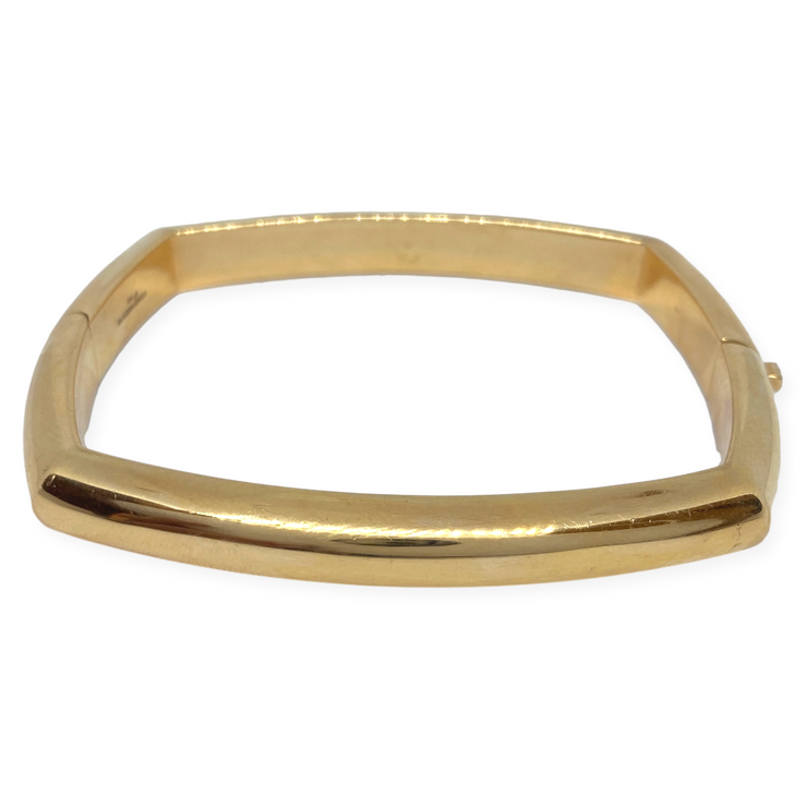 Pre-Owned David Webb Square Quad Bangle 18K Yellow Gold