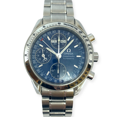 Pre-Owned Men's Omega Speedmaster Chronograph Triple Calendar Blue Watch 39mm