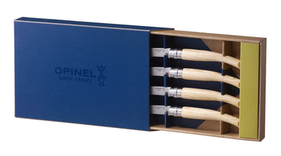 Opinel Steak Knives Ash Wood handle (set of 4)