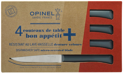 Opinel Bon Appetit+ Set of 4 Table knives - Anthracite