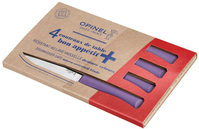 Opinel Bon Appetit+ Set of 4 Steak knives - Lavender