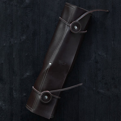 8 Slot Synthetic Leather Chef Knife Carrier