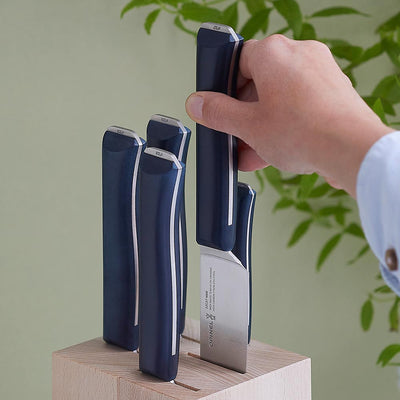 Intempora 5 Piece Chef Knife Set with Block