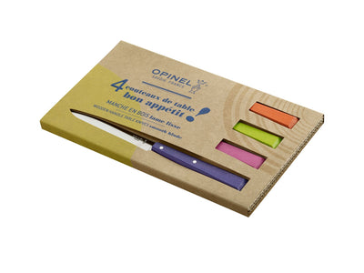 Opinel Bon Appetit Esprit Pop set of 4 Colored Steak knives