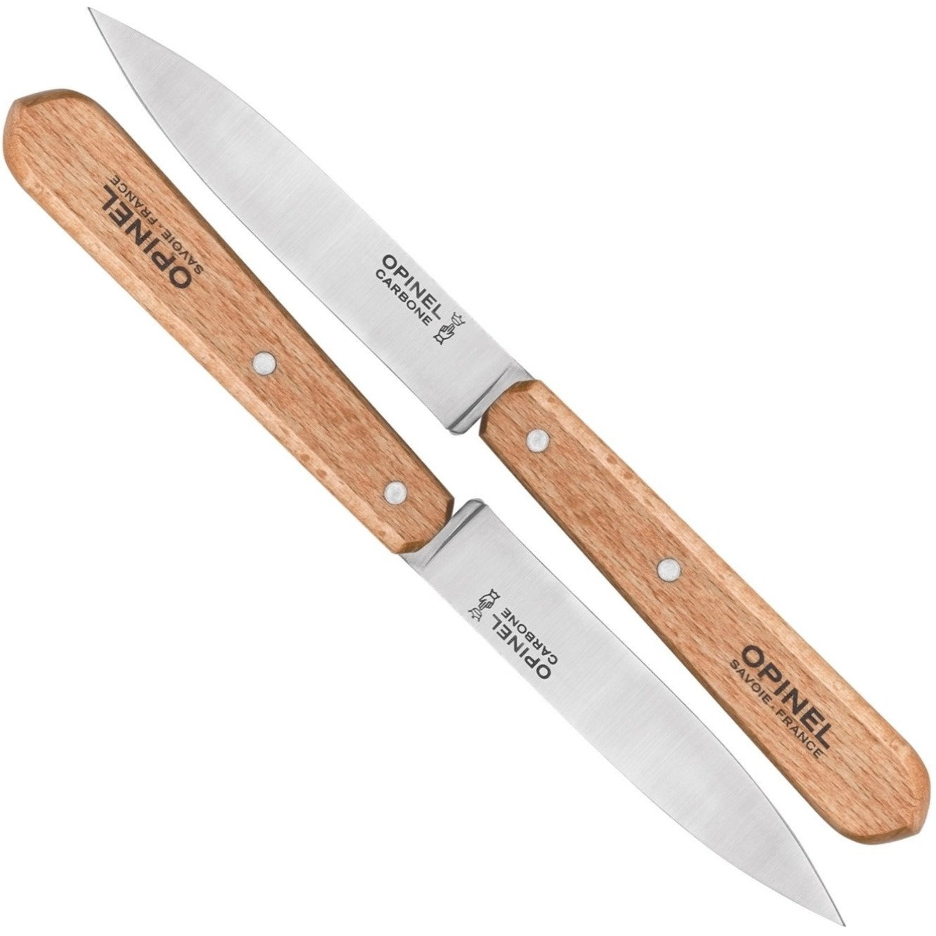 Opinel Carbon Paring Knives No102 Box Of 2