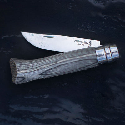 No.08 Laminated Birch Folding Knife