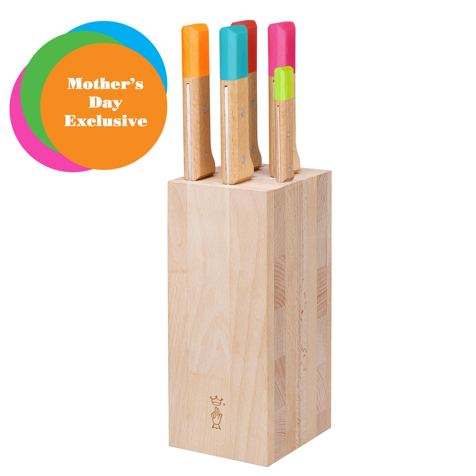 Parallele POP 5 Piece Knife Set with Block