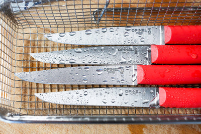 Opinel Bon Appetit+ Set of 4 Table knives - Red