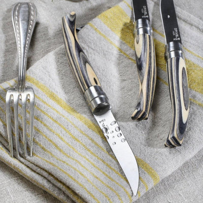 Premium Wood Steak Knife Set of 4 Knives