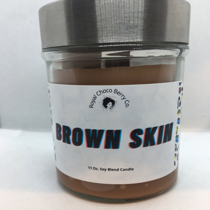 Brown Skin Soy Wax Candle 11oz
