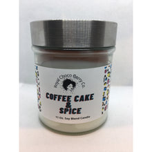 Load image into Gallery viewer, Coffee Cake and Spice Soy Wax Candle 11oz