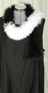 """Cruella"" Black White Scarf"