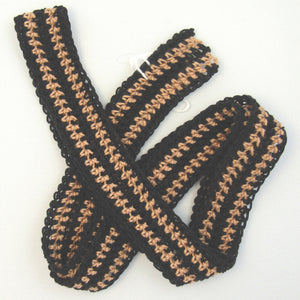 Large Double Copper Crochet Belt