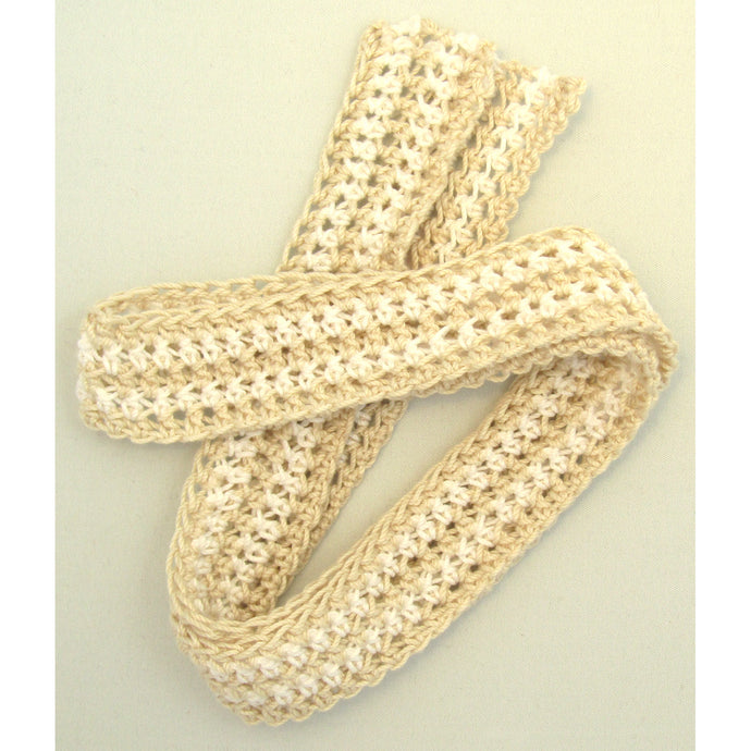 Small Double White Beige Crochet Belt
