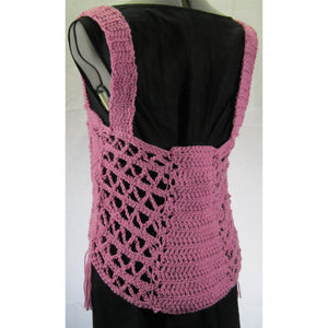 Pink Macrame Crochet Top