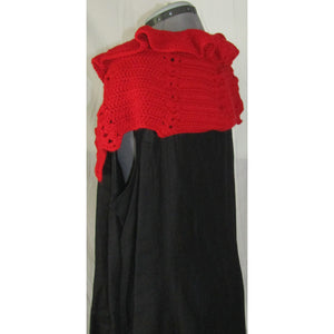 Crochet Red Shoulder Cape