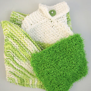 Knit 3pc Towel Set