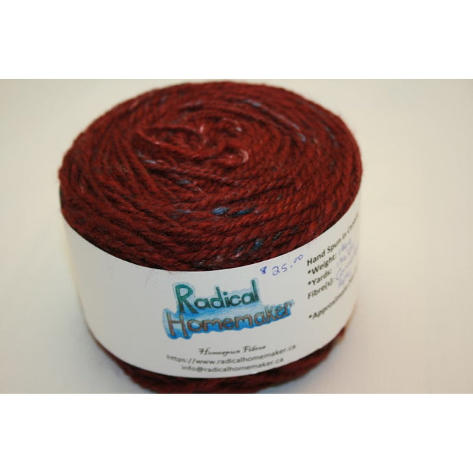 Wine Handspun Wool