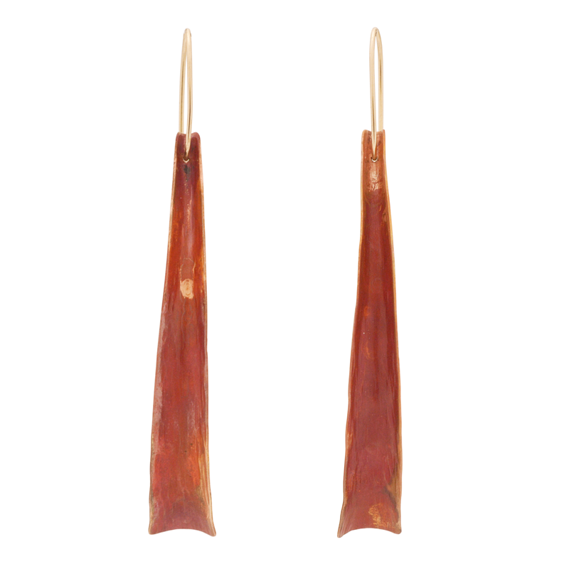 """Flow"" Earrings (Red Copper)"