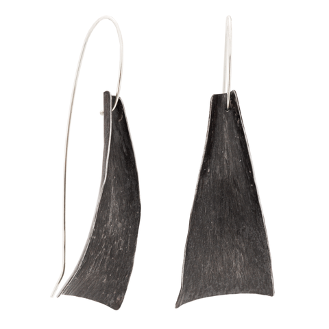 """Freedom"" Earrings (Black Silver)"