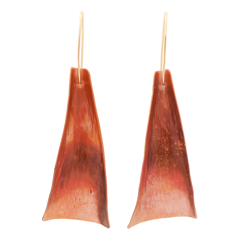 """Freedom"" Earrings (Red Copper)"