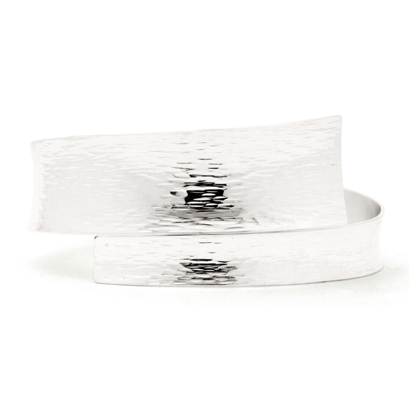 """Freedom"" Hammered Bangle (Sterling Silver)"