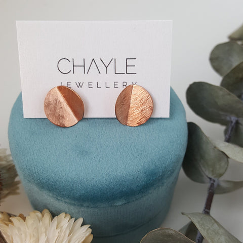 """Eucalyptus"" Studs - Rose Gold-fill"