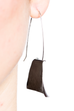 """Courage"" Hammered Earrings (Black Silver)"