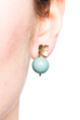 Flower Studs (14K Gold-filled) Turquoise Pearl