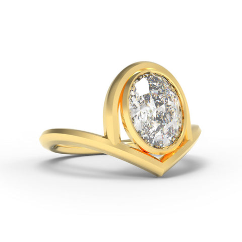 """The Architect"" - 1.25ct Oval Chevron Ring"