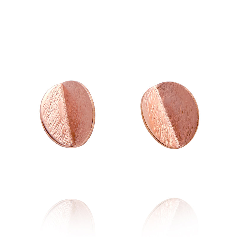 """Eucalyptus"" Mini Studs - Rose Gold-Fill"