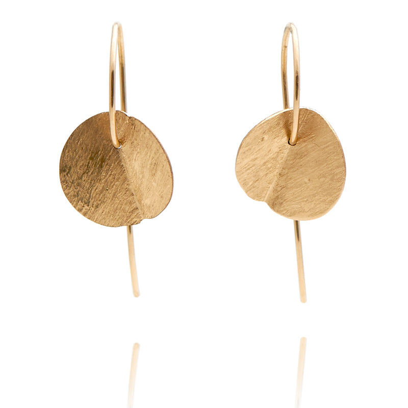 """Eucalyptus"" Small Earrings - Yellow Gold-Fill"