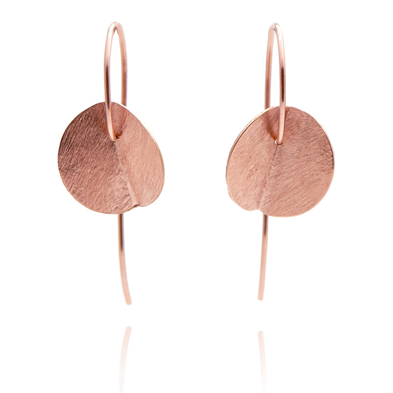 """Eucalyptus"" Small Earrings - Rose Gold-Fill"