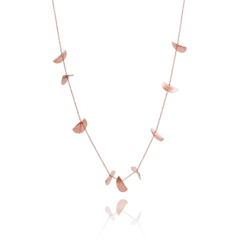 """Eucalyptus"" Long Chain Necklace - Rose Gold-Fill"