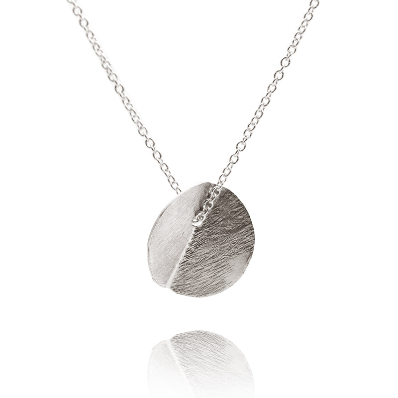 """Eucalyptus"" Small Single Pendant - Silver"