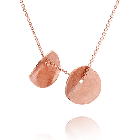 """Eucalyptus"" Small Double Pendant - Rose Gold-Fill"