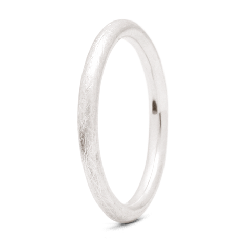 """Brushed"" - 2mm Textured Band"