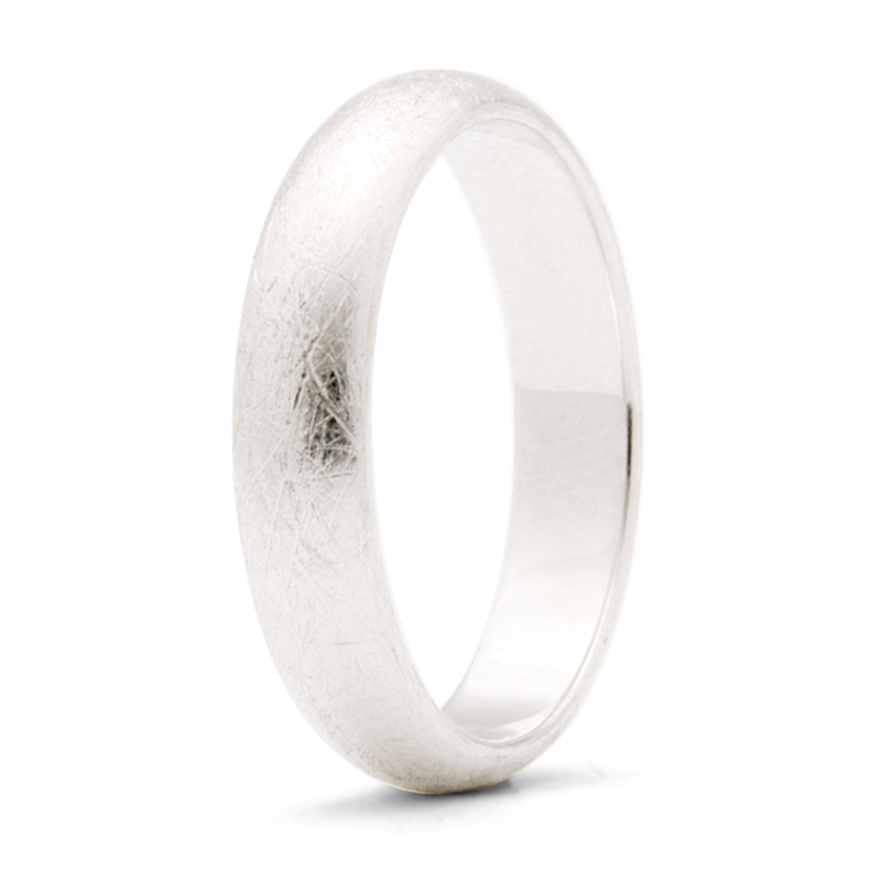 """Brushed"" - 4mm Textured Band"