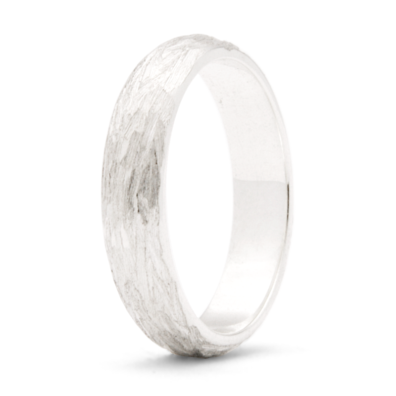 """Willow"" - 4mm Textured Band"