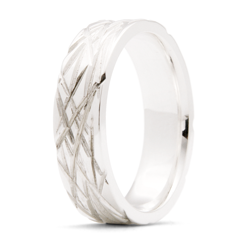 """Deep Frost"" - 6mm Flat Band"