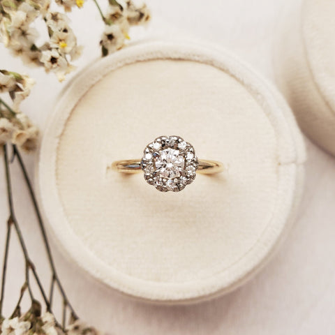 """Floral"" Halo Engagement Ring"