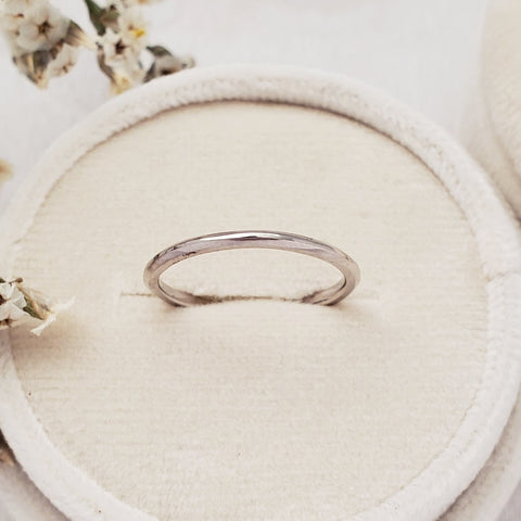 """Archway"" 1.5mm Slim Band - 14K White Gold - Ready-to-Ship - Size 6.0"