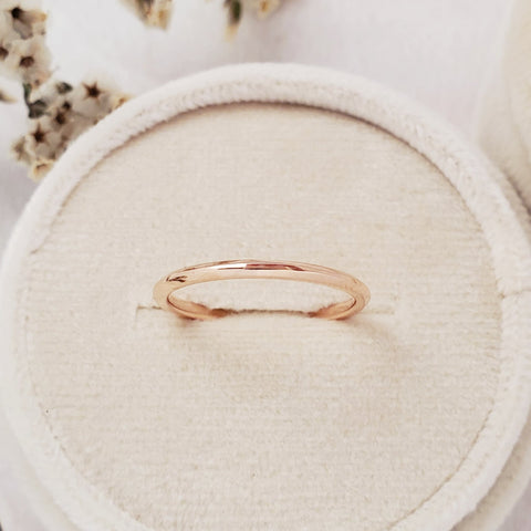 """Archway"" 1.5mm Slim Band - 18K Rose Gold - Ready-to-Ship - Size 6.0"